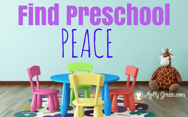 Preschool Pressure or Peace?